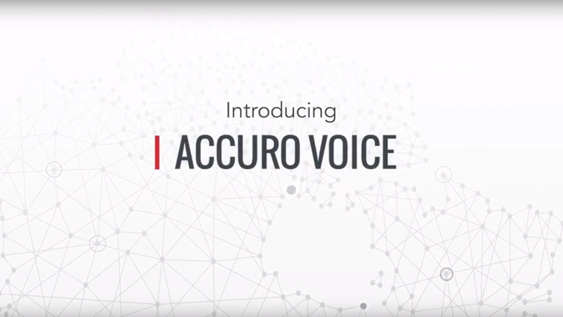 Accuro Voice Introduction